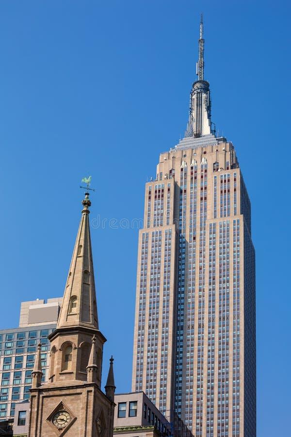Empire State Building w Manhattan Miasto Nowy Jork obrazy stock