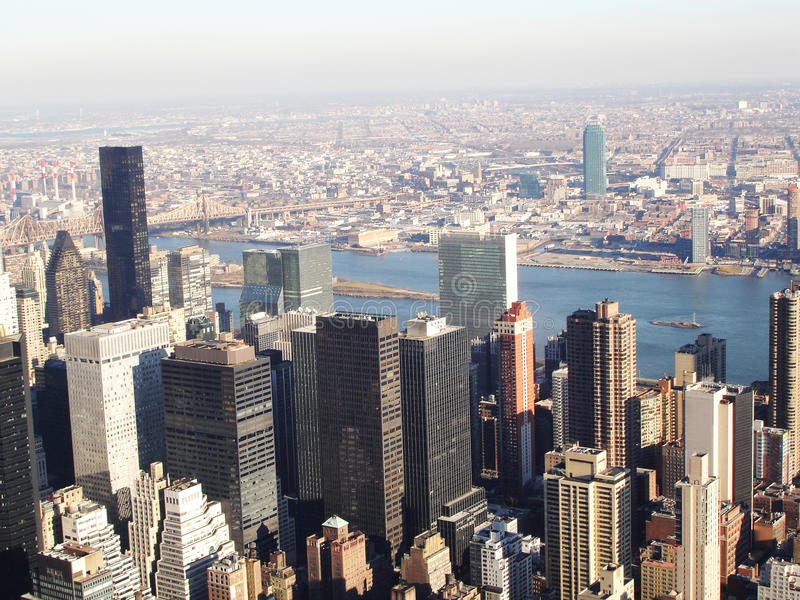 Empire State Building widok obrazy royalty free
