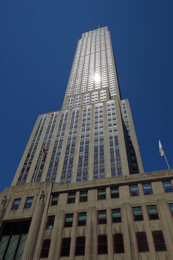 Empire State Buildingskyskrapa i New York royaltyfri bild