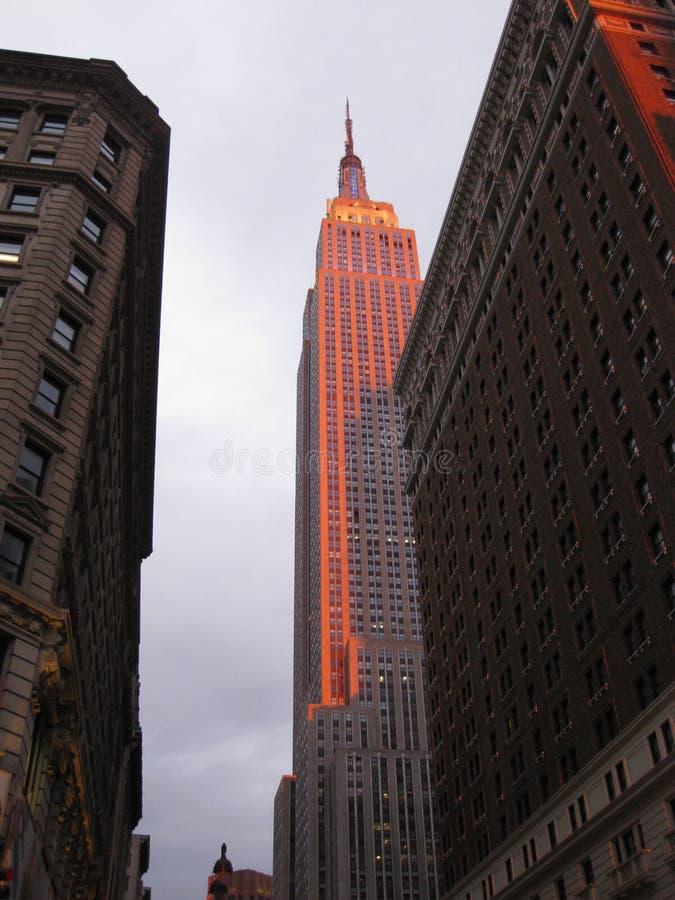 Empire State Buildingsolsken arkivfoto
