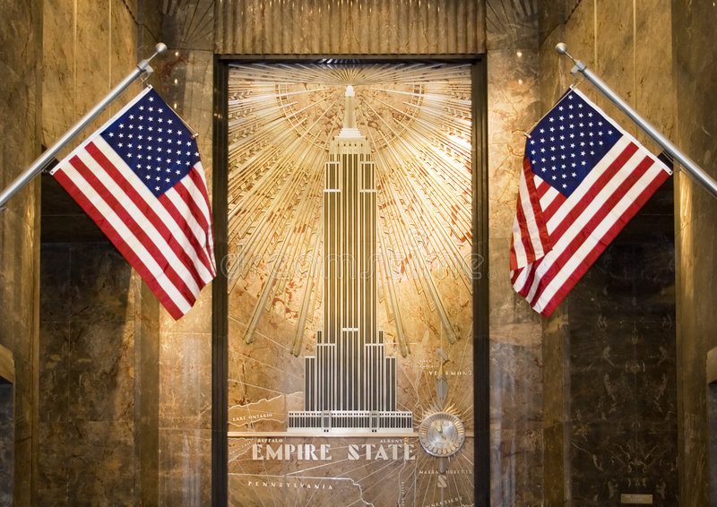 Empire State Lobby Editorial Stock Image