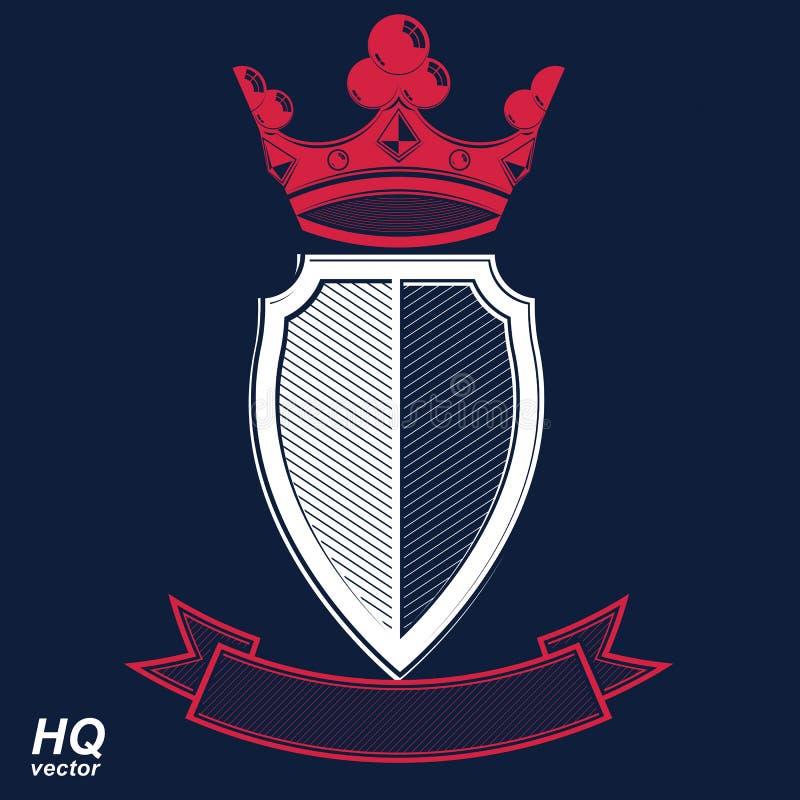 Empirowy projekta element Heraldyczna królewska coronet ilustracja ilustracji