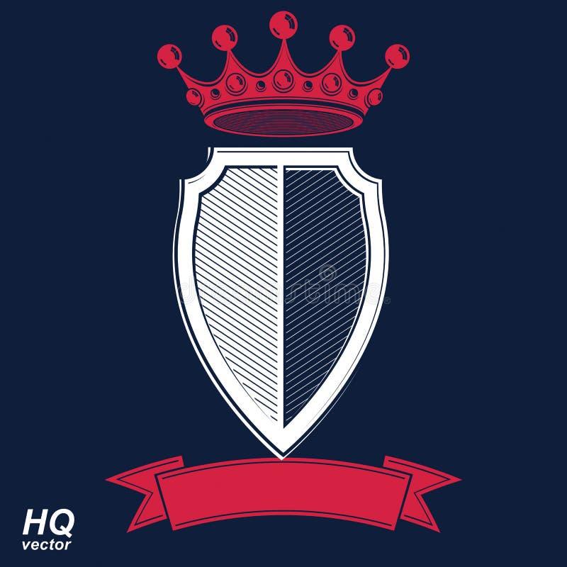 Empirowy projekta element Heraldyczna królewska coronet ilustracja - chochlik royalty ilustracja