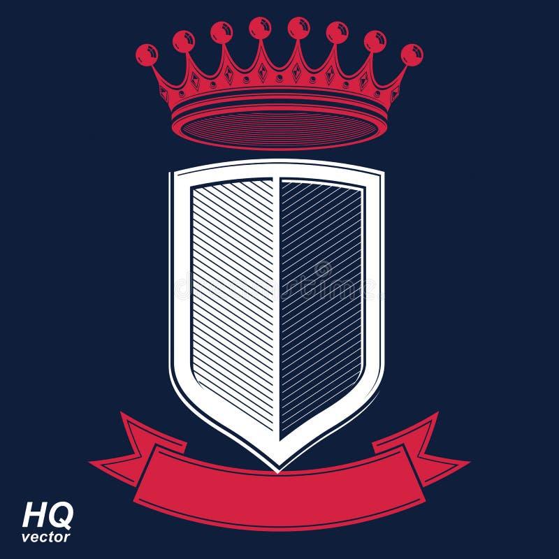 Empirowy projekta element Heraldyczna królewska coronet ilustracja - chochlik ilustracja wektor