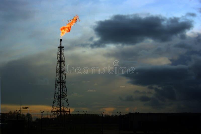 Emplacement épanouissant de gaz image stock