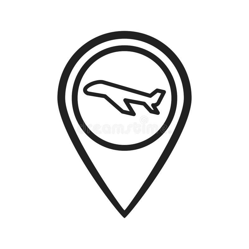 Emplacement d'aéroport illustration stock