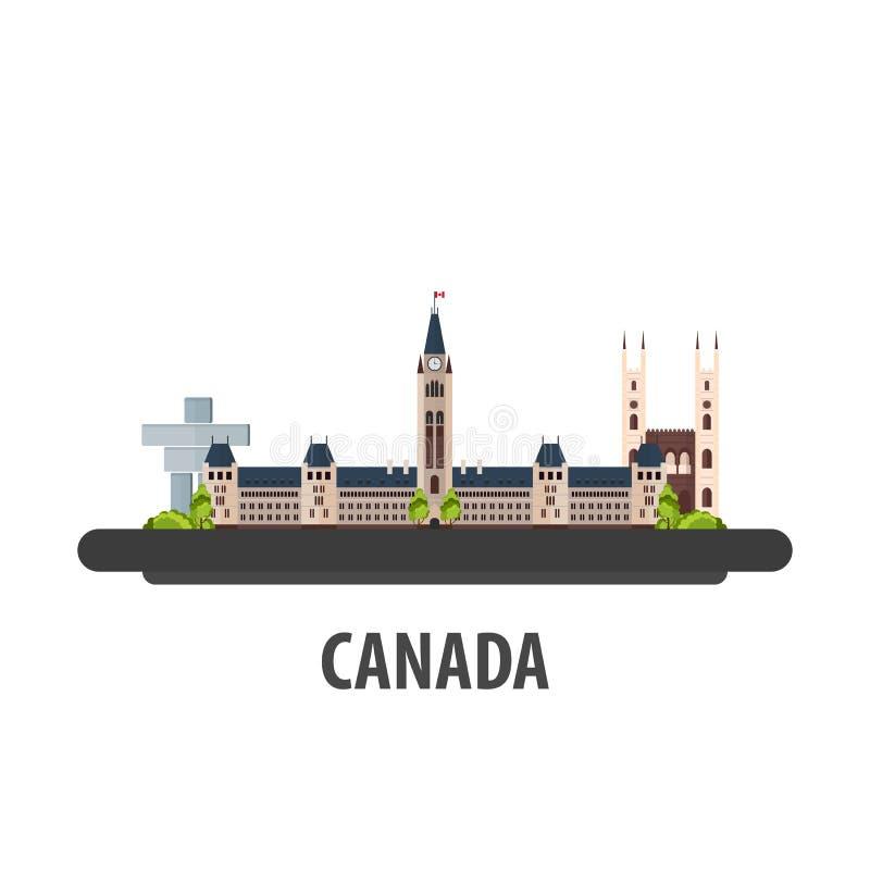 Emplacement de voyage de Canada Vacances ou voyage et vacances illustration libre de droits