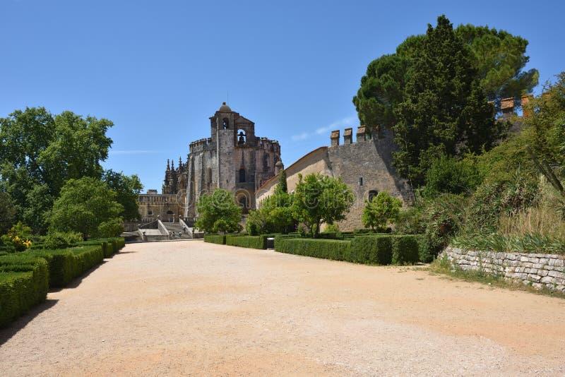 Emplarkerk van het Klooster van de Orde van Christus in Tomar Por stock afbeeldingen