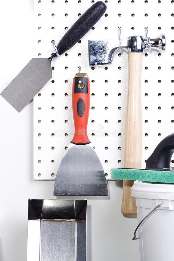 Emplastrando ferramentas foto de stock