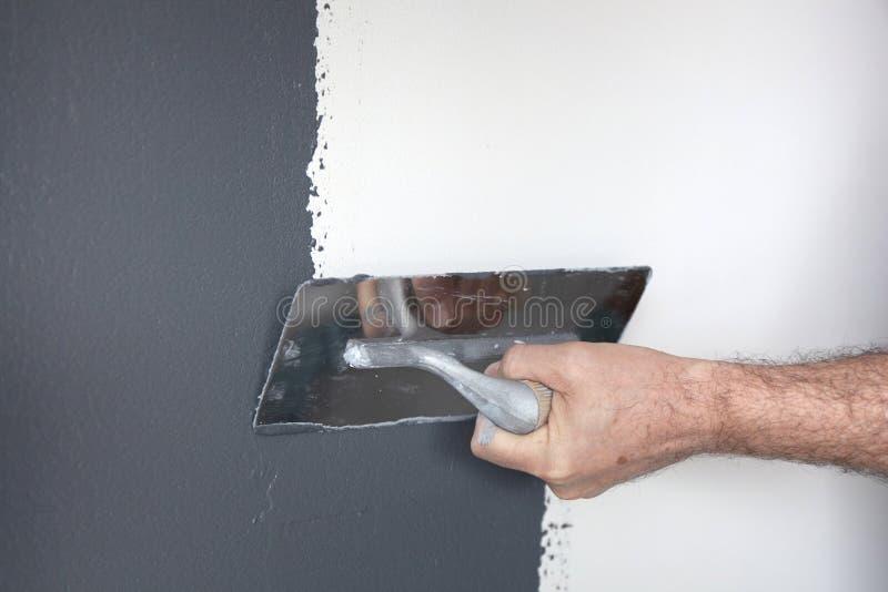 Emplastro de um muro de cimento fotos de stock royalty free