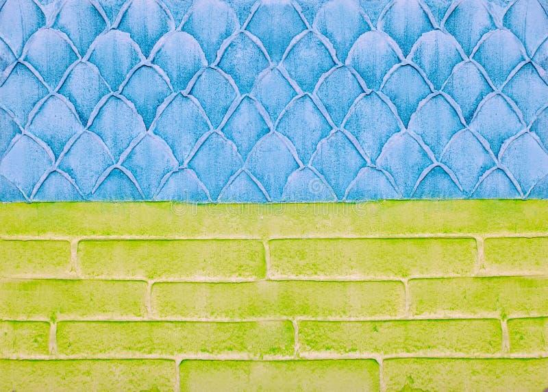 Emplastro decorativo na parede, fundo abstrato, imitação da escala, tijolos imagens de stock