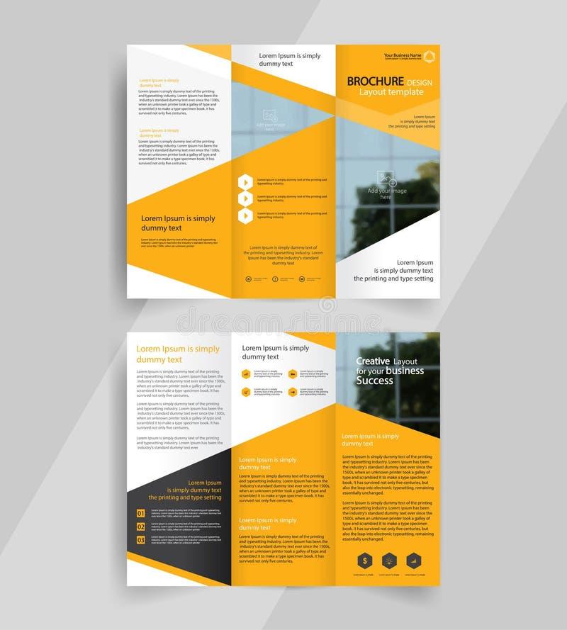 Emplate triple de conception de disposition de brochure d'affaires illustration stock