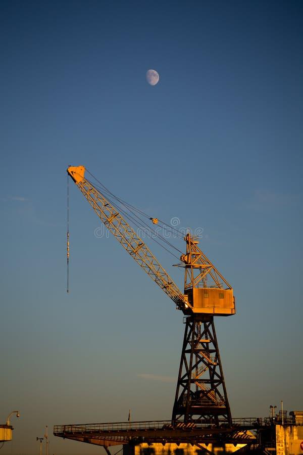 Emplazamiento de la luna y de la obra imagen de archivo