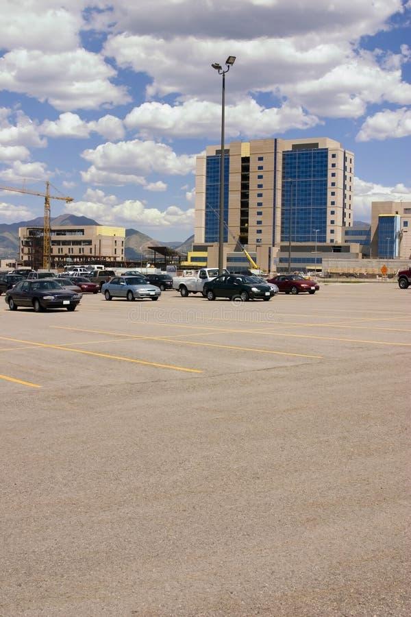 Emplazamiento de la obra del estacionamiento imágenes de archivo libres de regalías