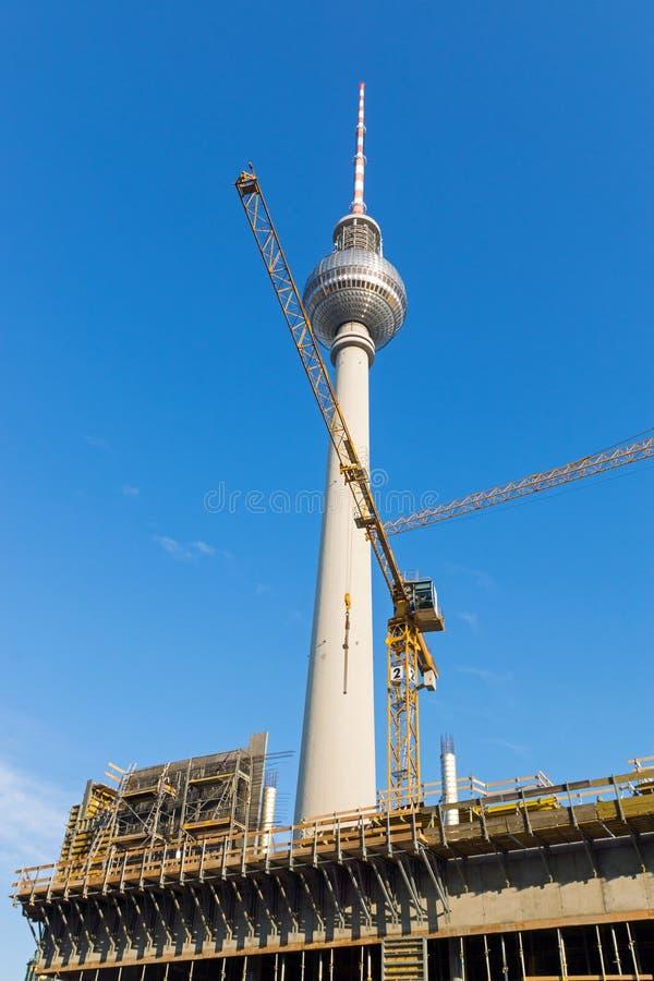 Emplazamiento de la obra en el Alexanderplatz fotografía de archivo