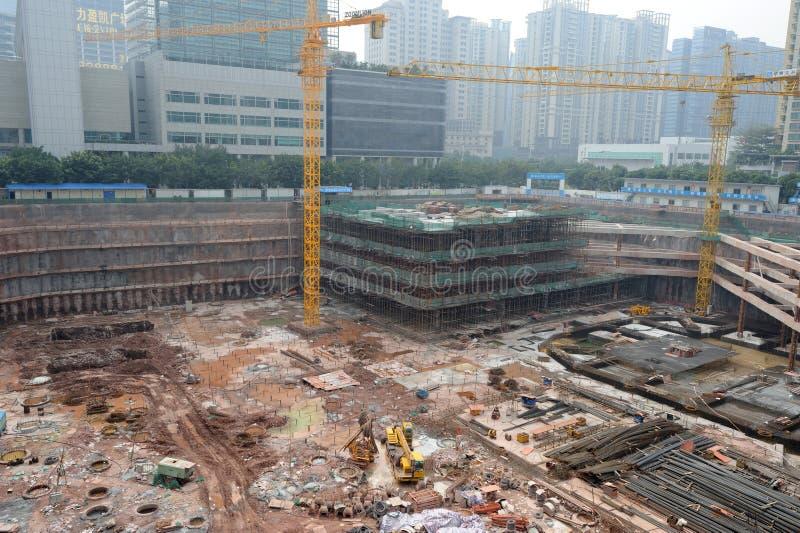 Emplazamiento de la obra en guangzhou, China foto de archivo libre de regalías