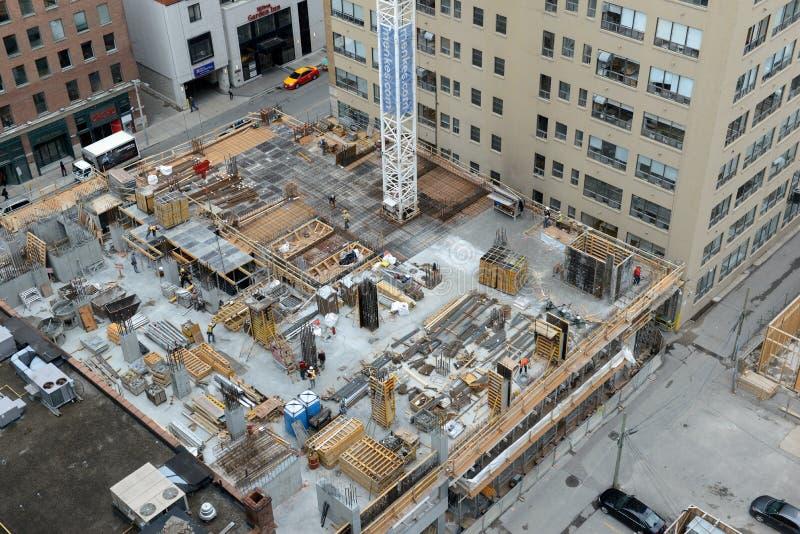 Emplazamiento de la obra en Toronto, Canadá fotos de archivo