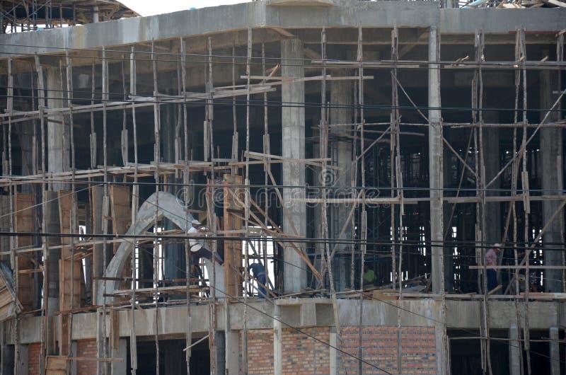 Emplazamiento de la obra para la mezquita constructiva imagen de archivo