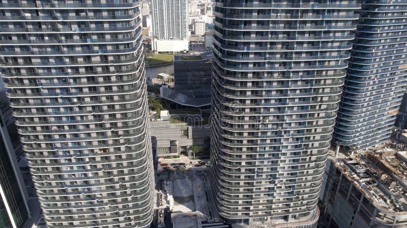 Emplazamientos de la obra modernos de la imagen aérea imágenes de archivo libres de regalías