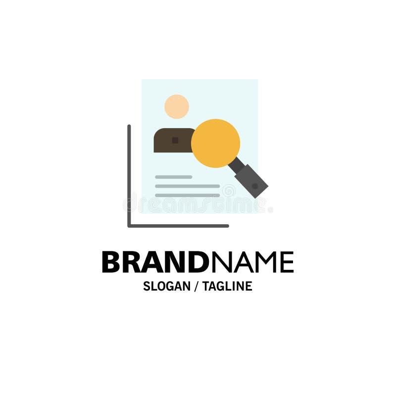 Empleado, hora, humana, caza, personal, recursos, curriculum vitae, negocio Logo Template de la búsqueda color plano stock de ilustración