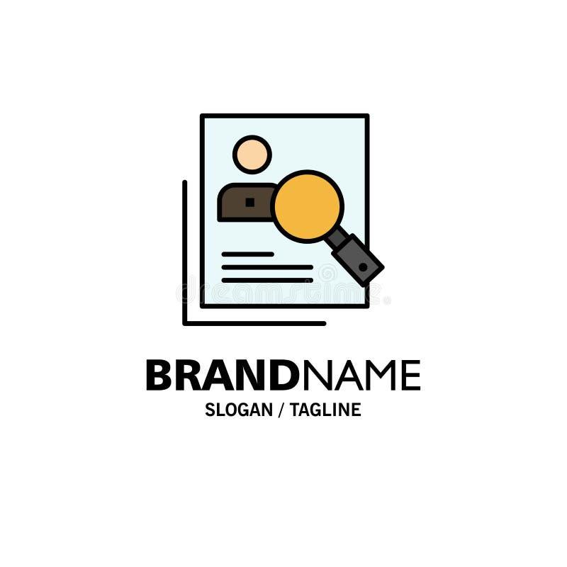 Empleado, hora, humana, caza, personal, recursos, curriculum vitae, negocio Logo Template de la búsqueda color plano libre illustration
