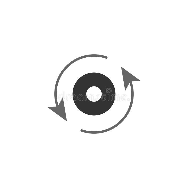empleado, icono del flujo Elemento del icono de comercialización para los apps móviles del concepto y de la web El empleado detal stock de ilustración