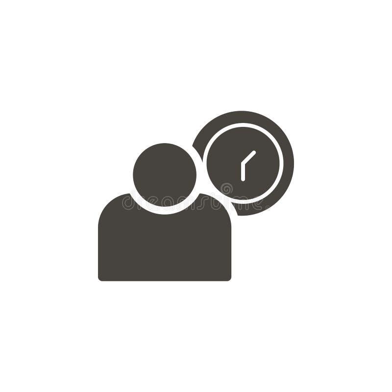 Empleado, icono del vector del usuario IllustrationEmployee simple del elemento, icono del vector del usuario Ejemplo material de libre illustration