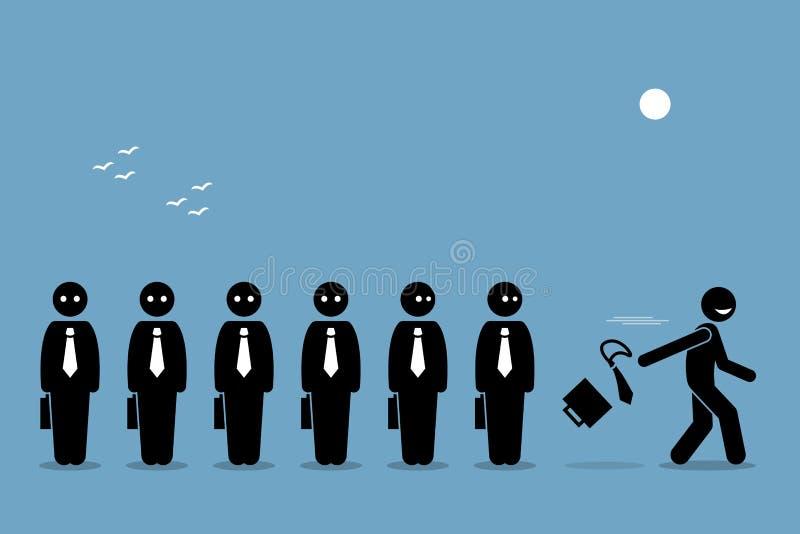 Empleado quiting su trabajo libre illustration