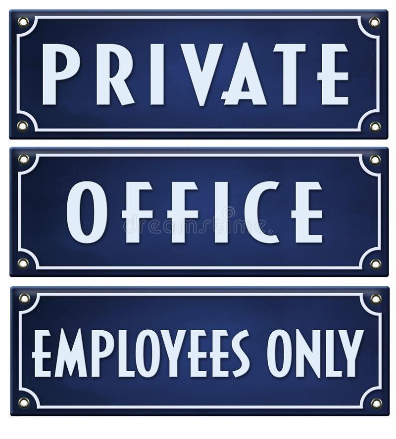 Empleados de oficina privados de la muestra solamente ilustración del vector