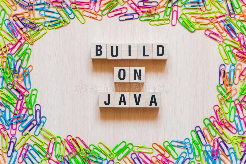 Emplear concepto de las palabras de Java imágenes de archivo libres de regalías