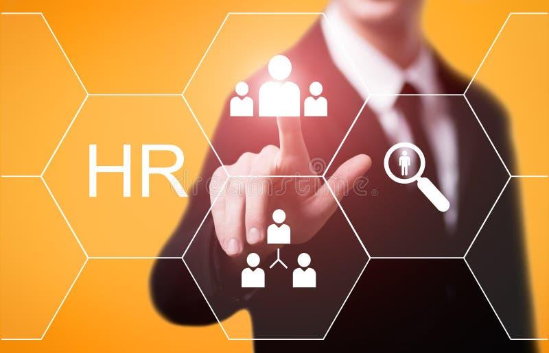 Empleo del reclutamiento de la gestión de la hora de los recursos humanos que busca concepto foto de archivo