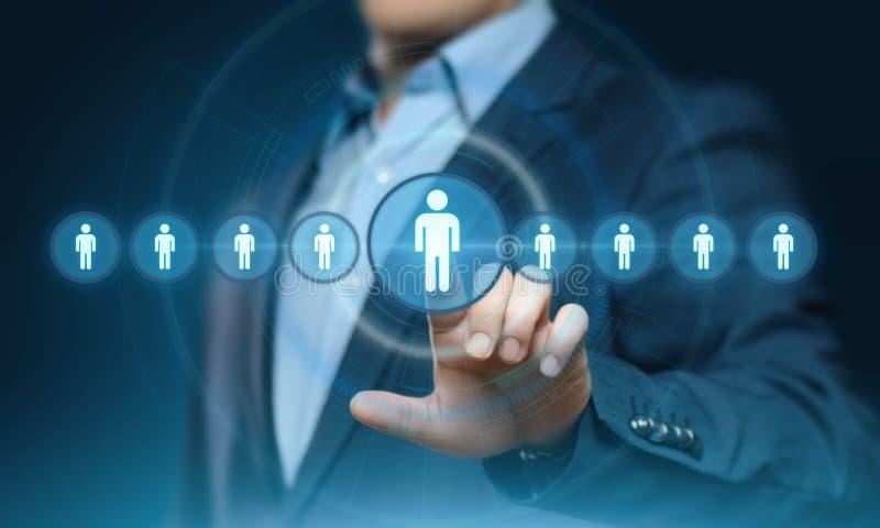 Empleo del reclutamiento de la gestión de la hora de los recursos humanos que busca concepto imágenes de archivo libres de regalías