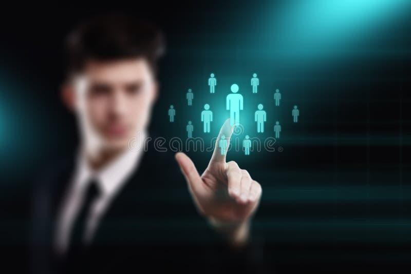 Emploi de recrutement de gestion d'heure de ressources humaines recrutant des cadres le concept photographie stock