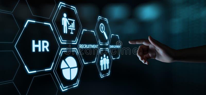 Emploi de recrutement de gestion d'heure de ressources humaines recrutant des cadres le concept image libre de droits