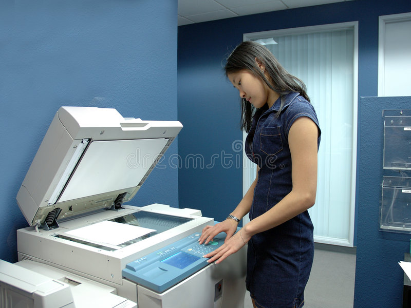 Employ de bureau photo stock Image du photostat japonais 63830