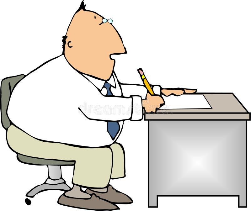 Employé de bureau illustration de vecteur