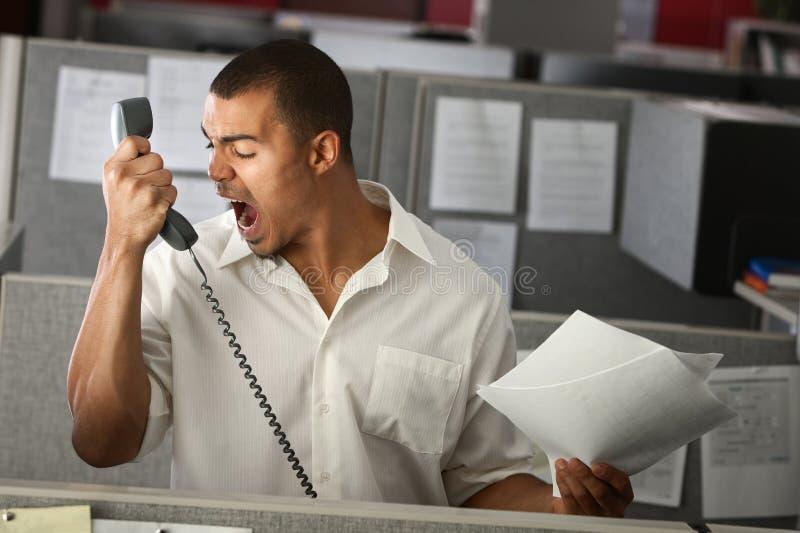Employé de bureau fâché photos libres de droits