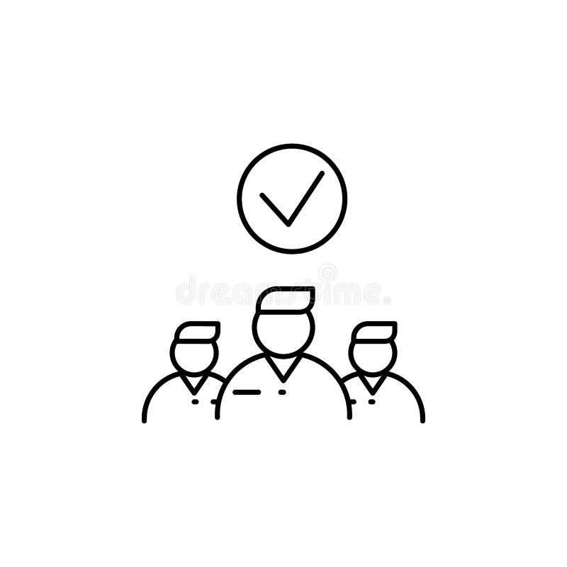 employé distingué Élément d'icône d'entrevue d'emploi pour les apps mobiles de concept et de Web La ligne mince employé distingué illustration stock