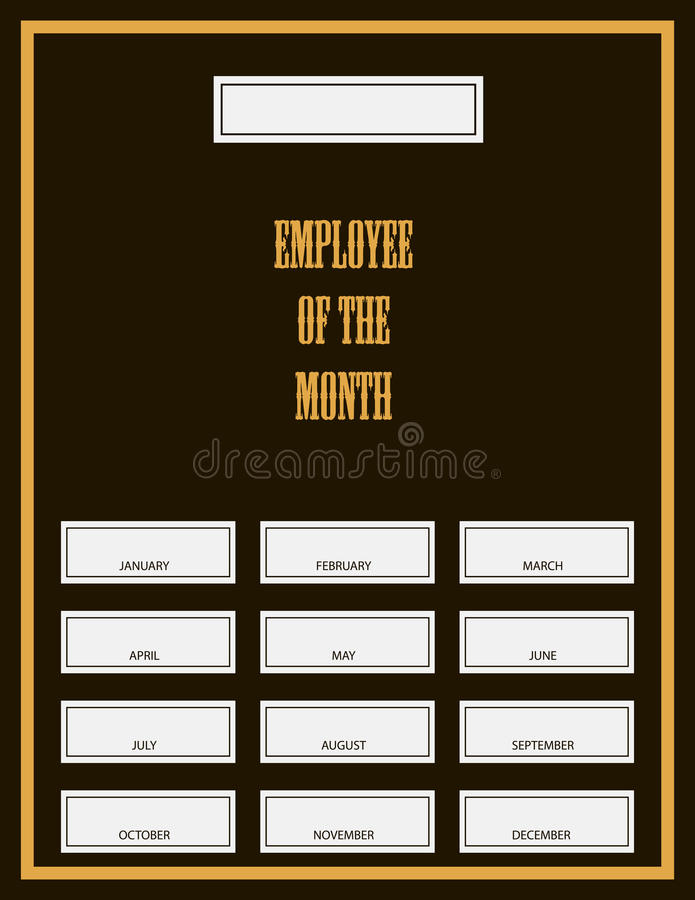 Employé du kit de récompense de mois illustration de vecteur