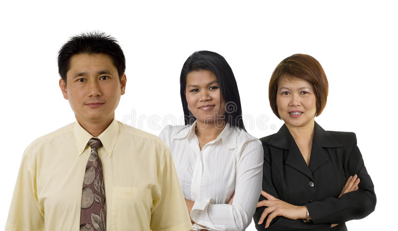Employés de bureau asiatiques photographie stock libre de droits