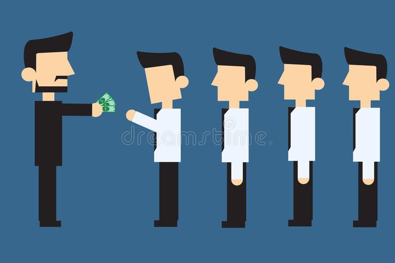 Download Employés Recevant Le Salaire Mensuel Illustration de Vecteur - Illustration du businessman, vecteur: 56487572