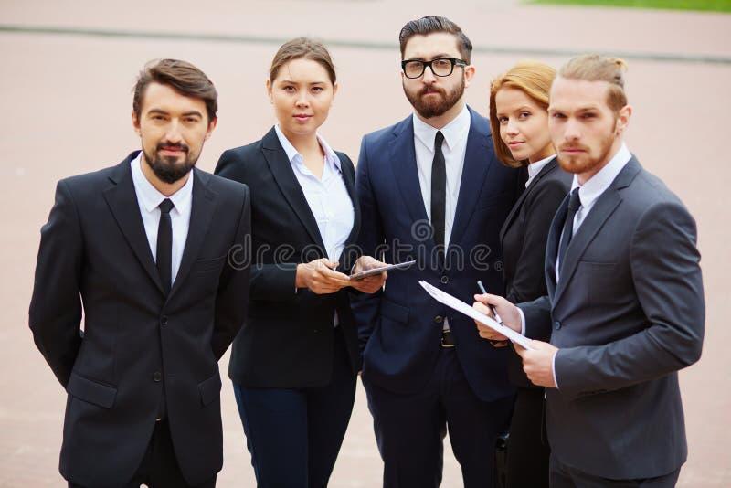 Employés sûrs image libre de droits