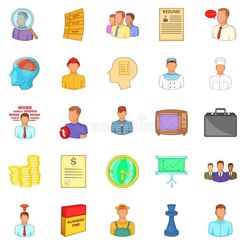 Employ icons set, cartoon style. Employ icons set. Cartoon set of 25 employ vector icons for web isolated on white background vector illustration