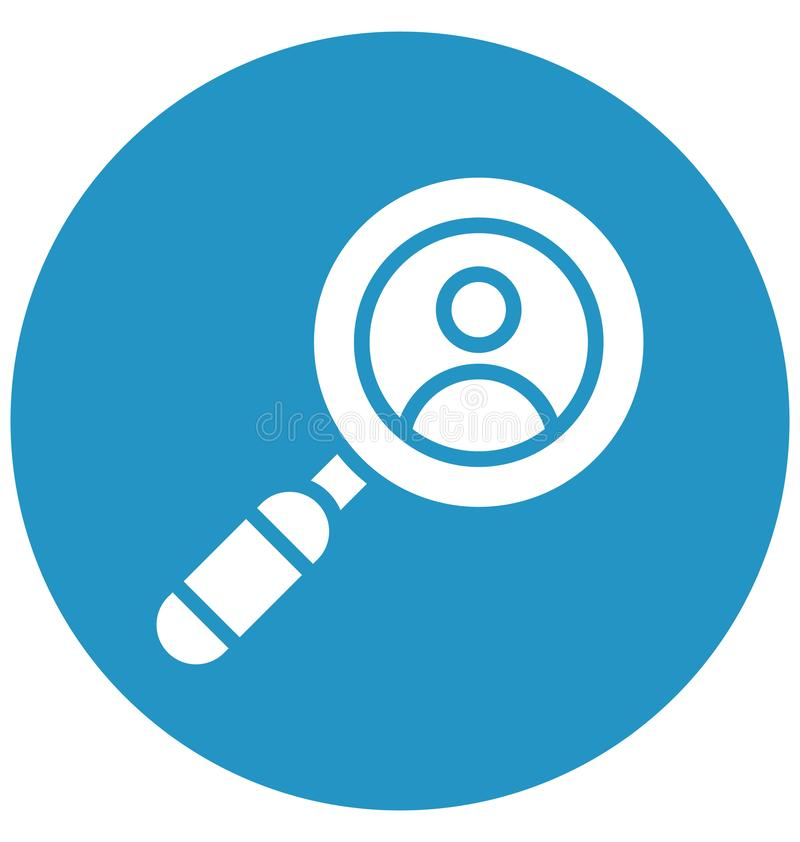 Employ search, Isolated Vector Icon That can be very easily edit or modified. royalty free illustration