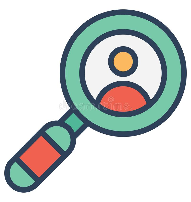 Employ search, Isolated Vector Icon That can be very easily edit or modified. stock illustration