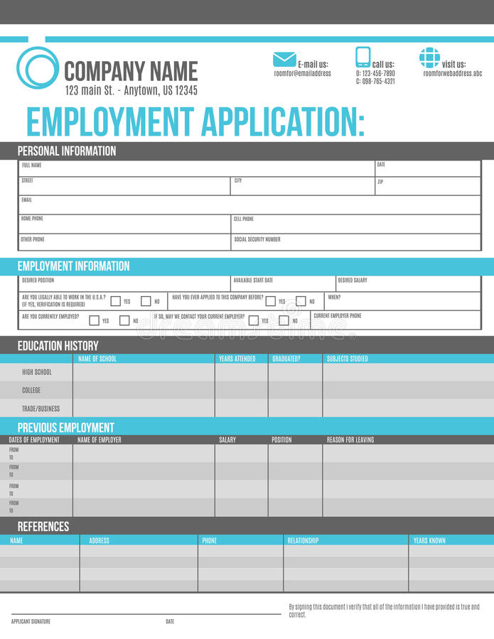download employee application template stock vector illustration of template graphic 56453474 - Job Application Template