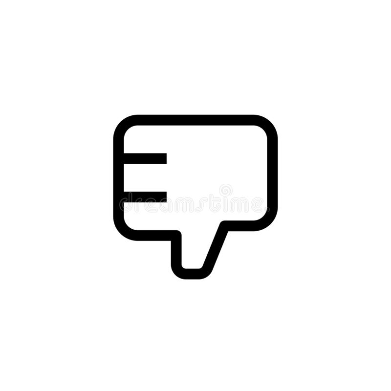 Employee bad work icon design. thumb down hand sign symbol. simple clean line art professional business management concept vector. Illustration design. eps 10 stock illustration