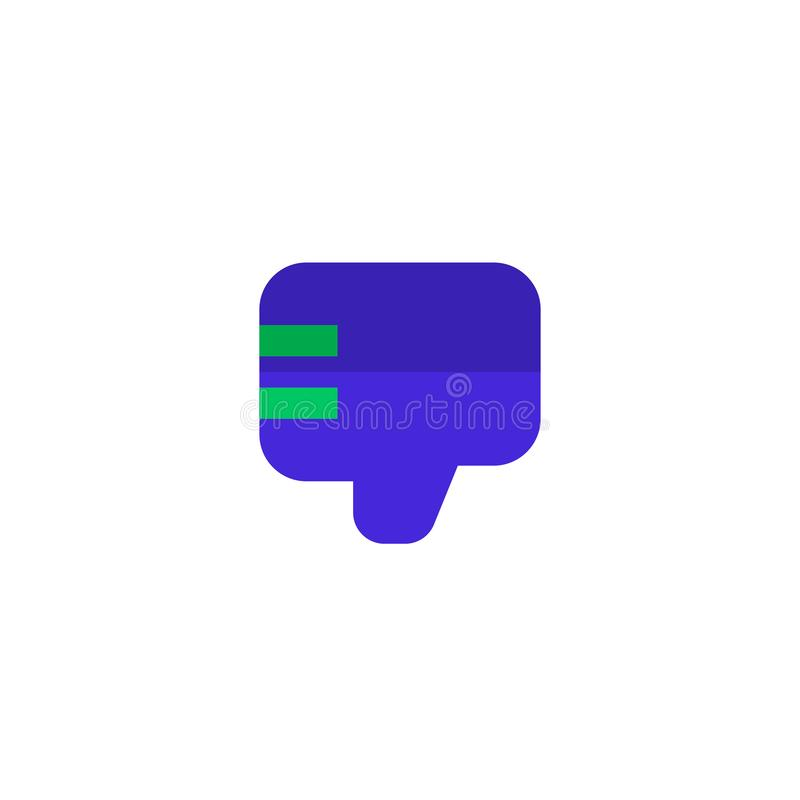 Employee bad work icon design. thumb down hand sign symbol. simple clean professional business management concept. Illustration design. eps 10 royalty free illustration