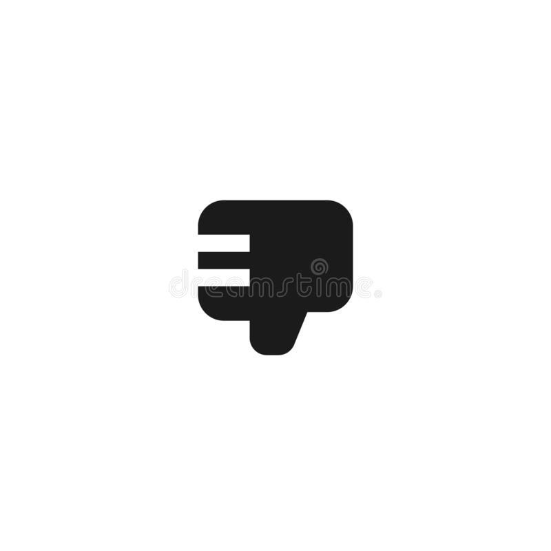Employee bad work icon design. thumb down hand sign symbol. simple clean professional business management concept vector. Illustration design. eps 10 royalty free illustration