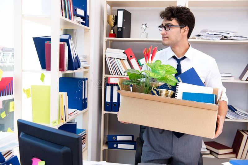 The employee being fired from work made redundant. Employee being fired from work made redundant royalty free stock images